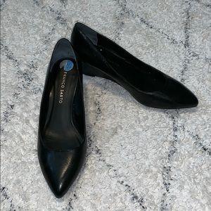 Black Wedge Heels Sz 7.5